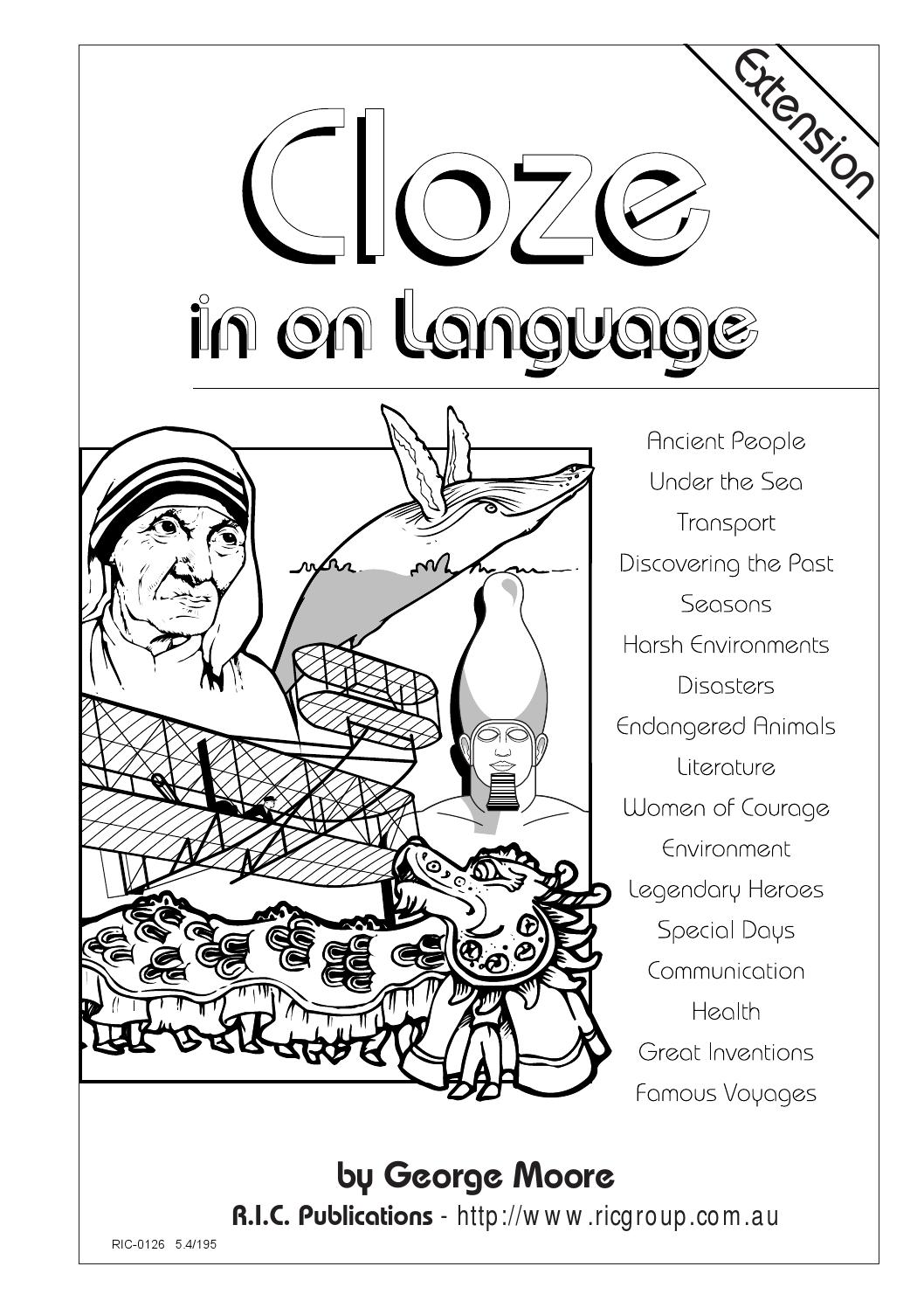 hight resolution of Cloze in on Language: Ages 12-14 by Teacher Superstore - issuu