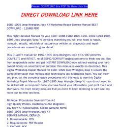 1987 1995 jeep wrangler jeep yj workshop repair service manual best download 115mb pdf  [ 1058 x 1497 Pixel ]