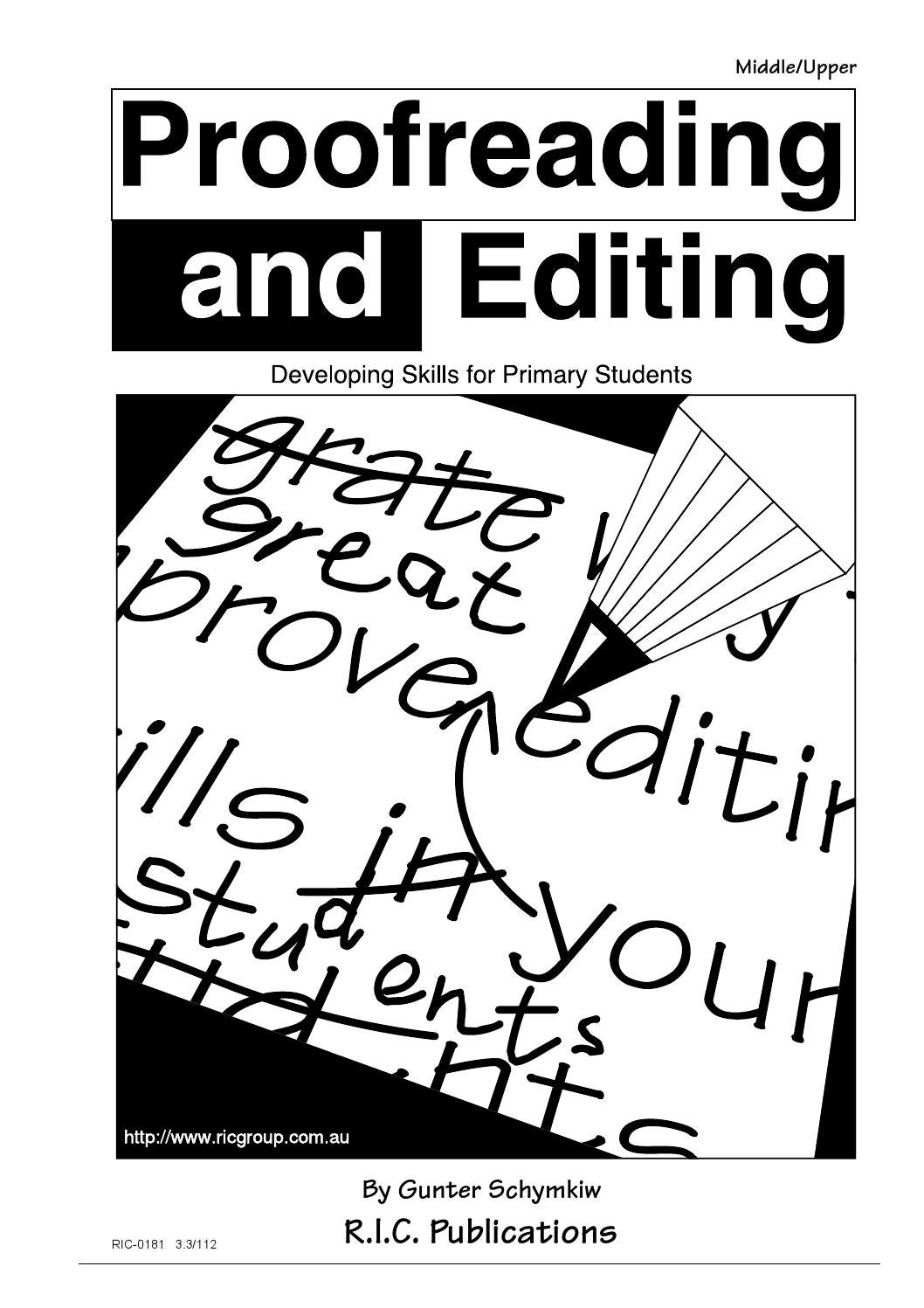hight resolution of Proofreading and Editing: Ages 9-12 by Teacher Superstore - issuu