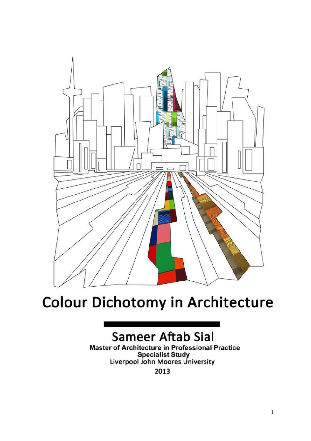 [sameer aftab sial] colour dichotomy in architecture by