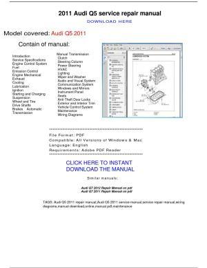 Audi q5 2011 repair manual by repairmanualpdf  Issuu