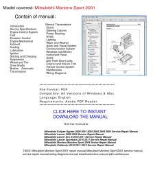 2001 montero brake system wiring diagram [ 1156 x 1496 Pixel ]