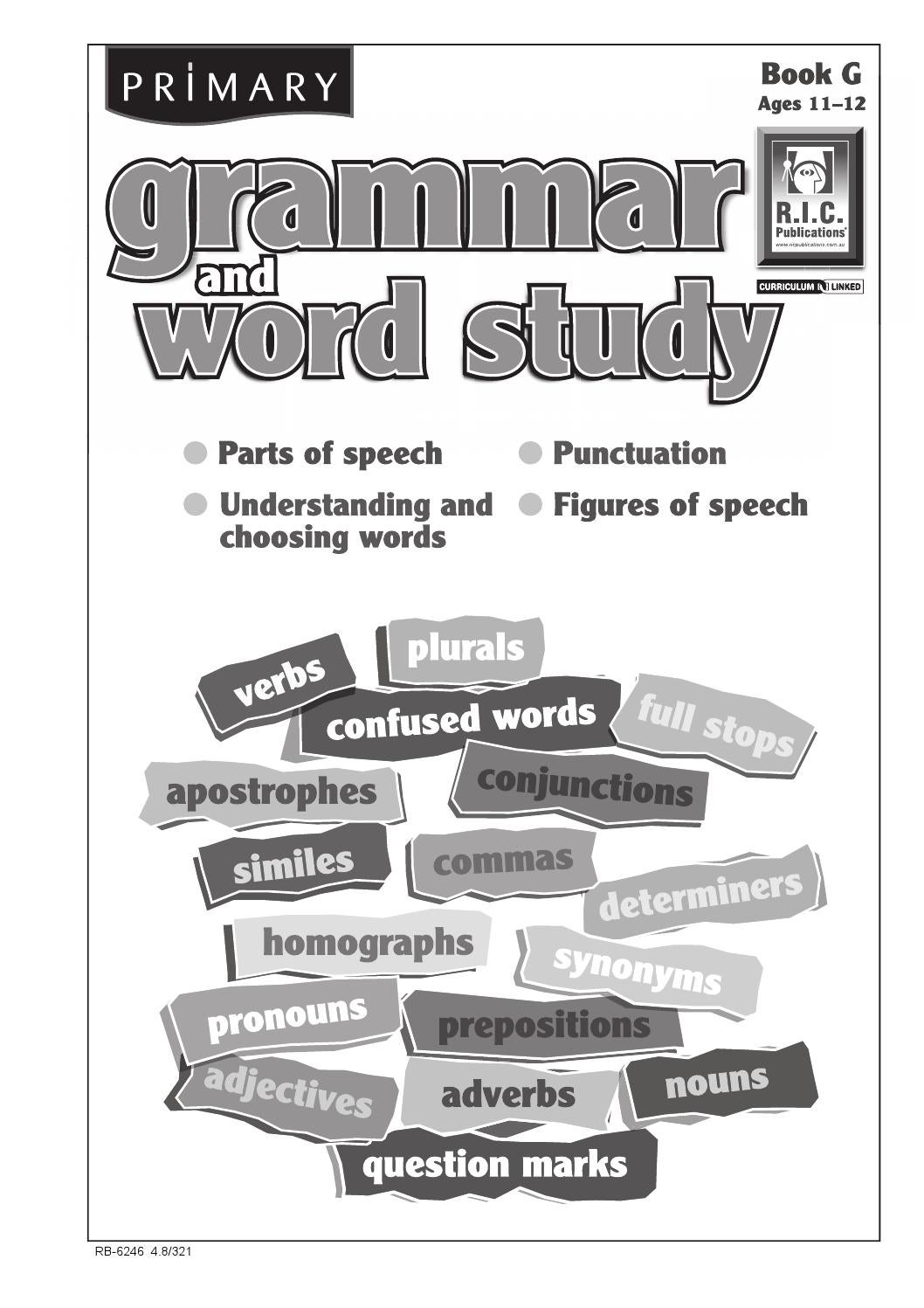 hight resolution of Primary Grammar and Word Study: Book G - Ages 11+ by Teacher Superstore -  issuu