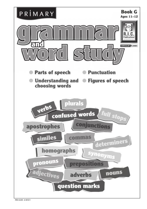 small resolution of Primary Grammar and Word Study: Book G - Ages 11+ by Teacher Superstore -  issuu
