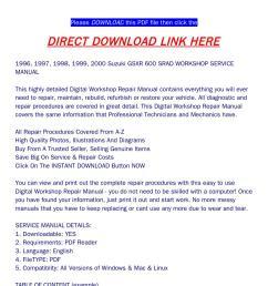 1996 2000 suzuki gsxr 600 srad workshop service manual [ 1058 x 1497 Pixel ]