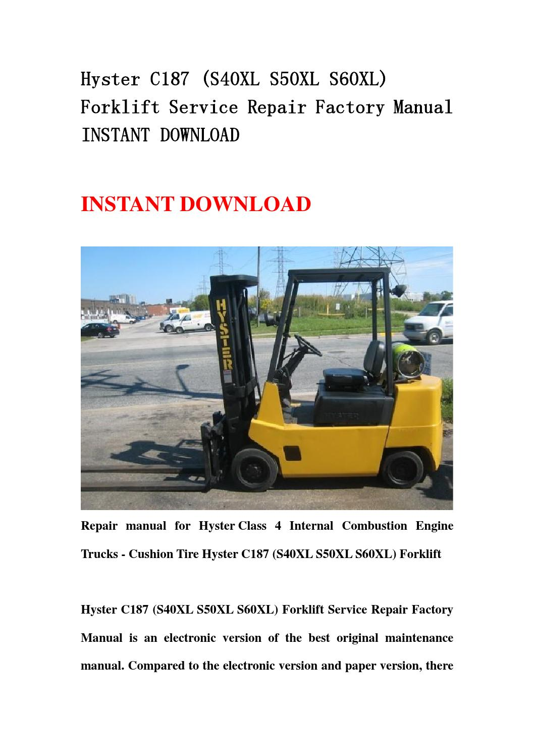 hyster s50xm forklift wiring diagram leeson m6k17fb3l 65 best library