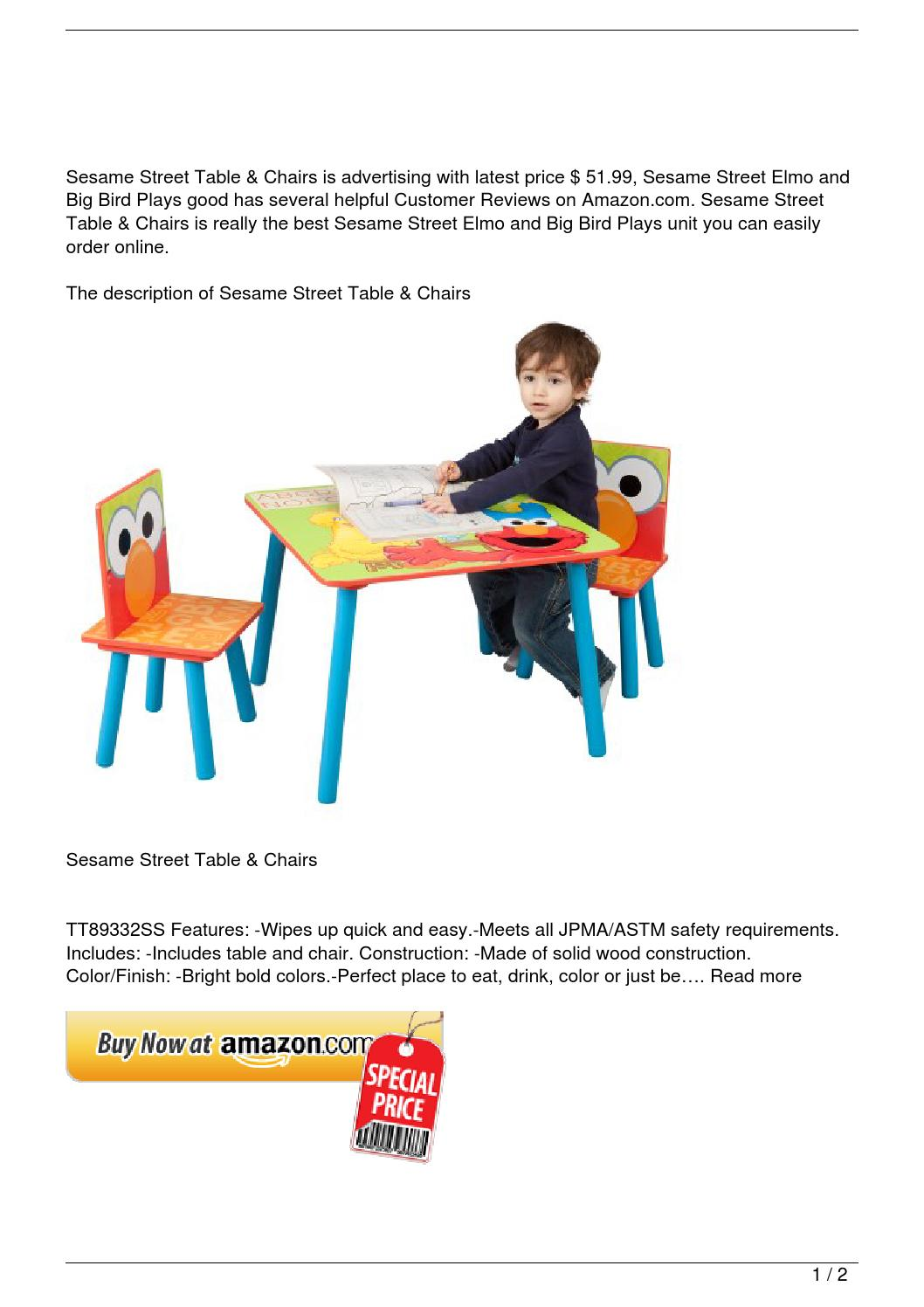 sesame street table and chairs animal print parson chair slipcovers discount by le trung nghia
