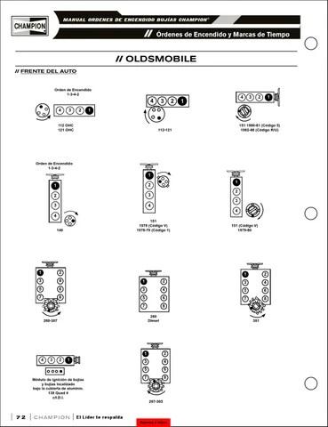 Bujías manual ordenes de encendido champion 2013 by Daisy
