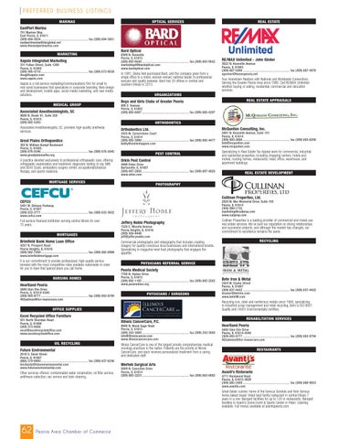 Peoria, IL 2013-2014 Community Profile by Tivoli Design