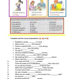 Prepositions of time worksheet 7th grade by Maria Miguel - issuu [ 1497 x 1058 Pixel ]