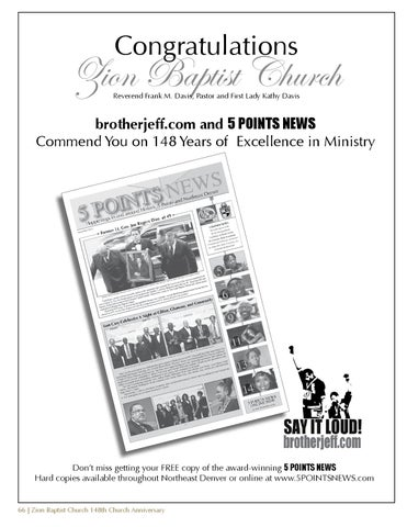 Zion Baptist Church 148th Anniversary Souvenir Book by