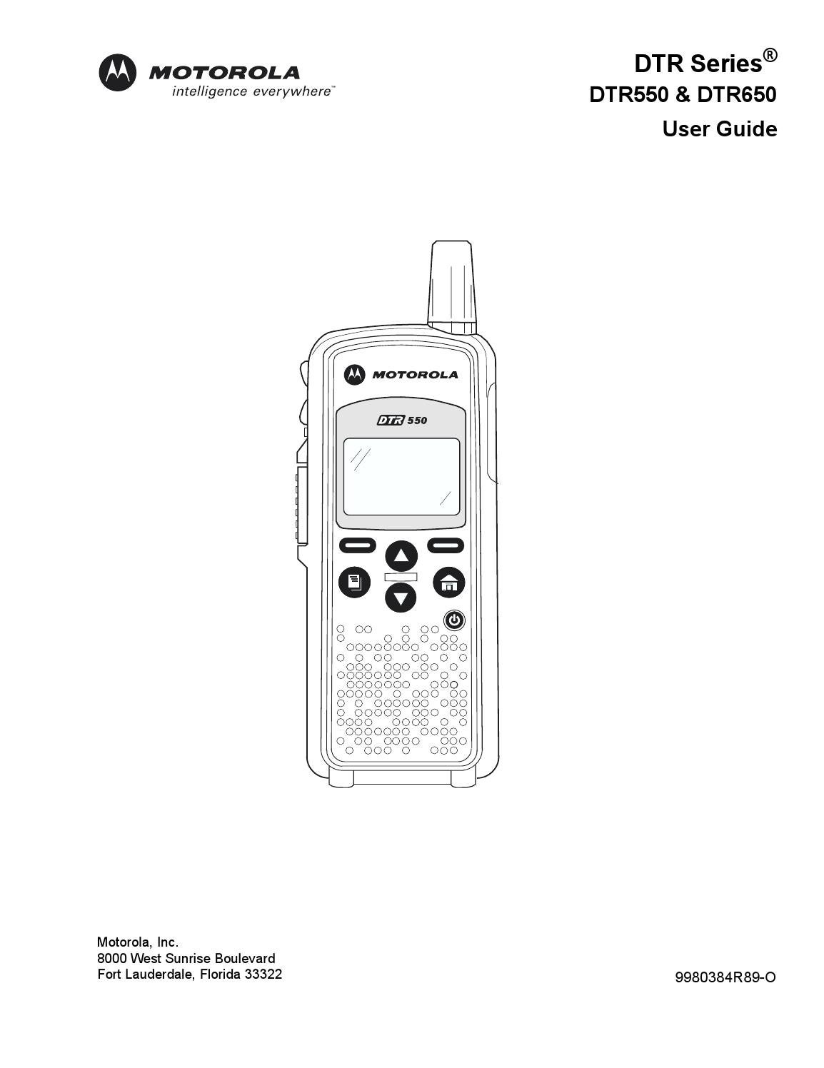 Motorola Two Way Radios DTR550 & DTR650 User Guide by
