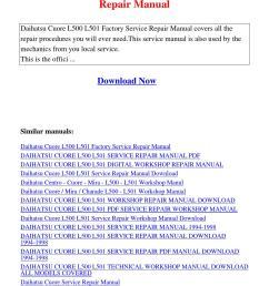 daihatsu cuore l500 l501 factory service repair manual pdf by david zhang issuu [ 1058 x 1497 Pixel ]