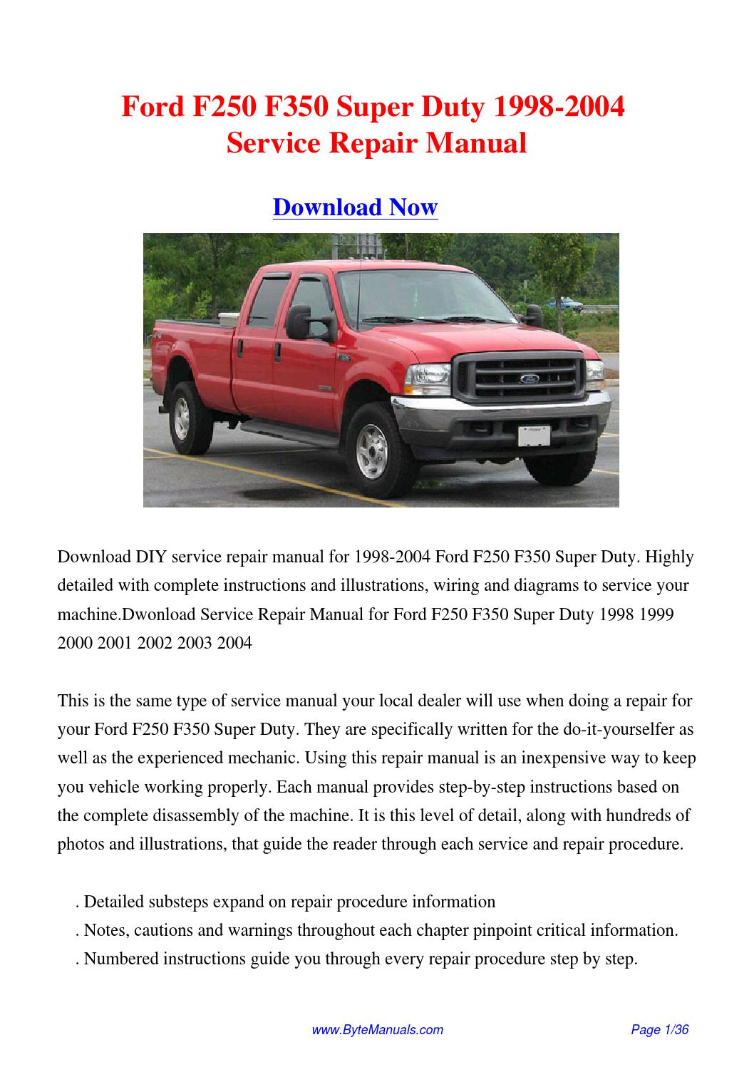 hight resolution of 2003 f250 service manual pdf