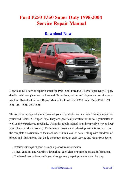 small resolution of 2003 f250 service manual pdf