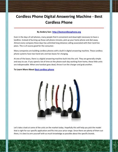 small resolution of best cordless phone