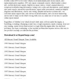 1999 grand marqui recall [ 1156 x 1496 Pixel ]