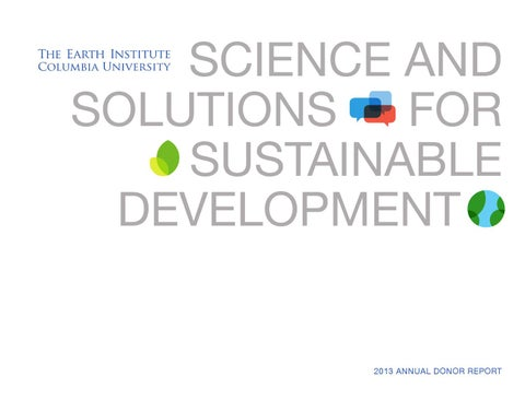 Science and Solutions for Sustainable Development by Earth