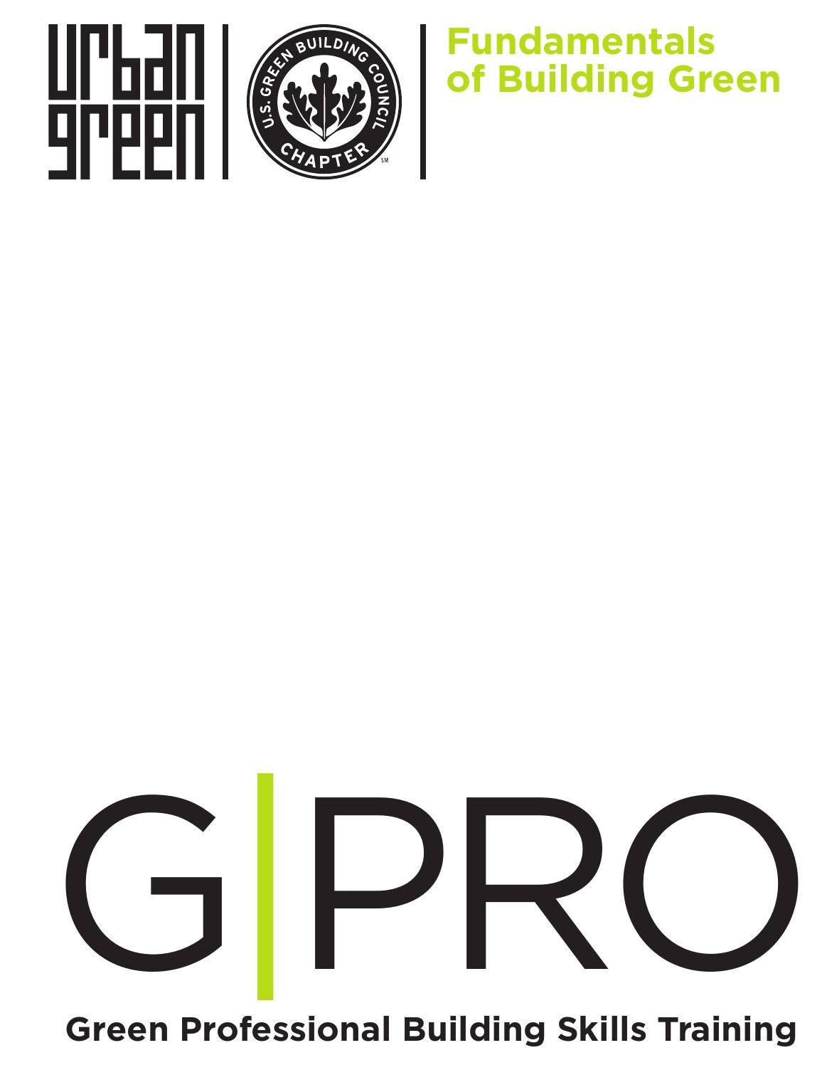 Sample Chapter: GPRO Fundamentals of Building Green by