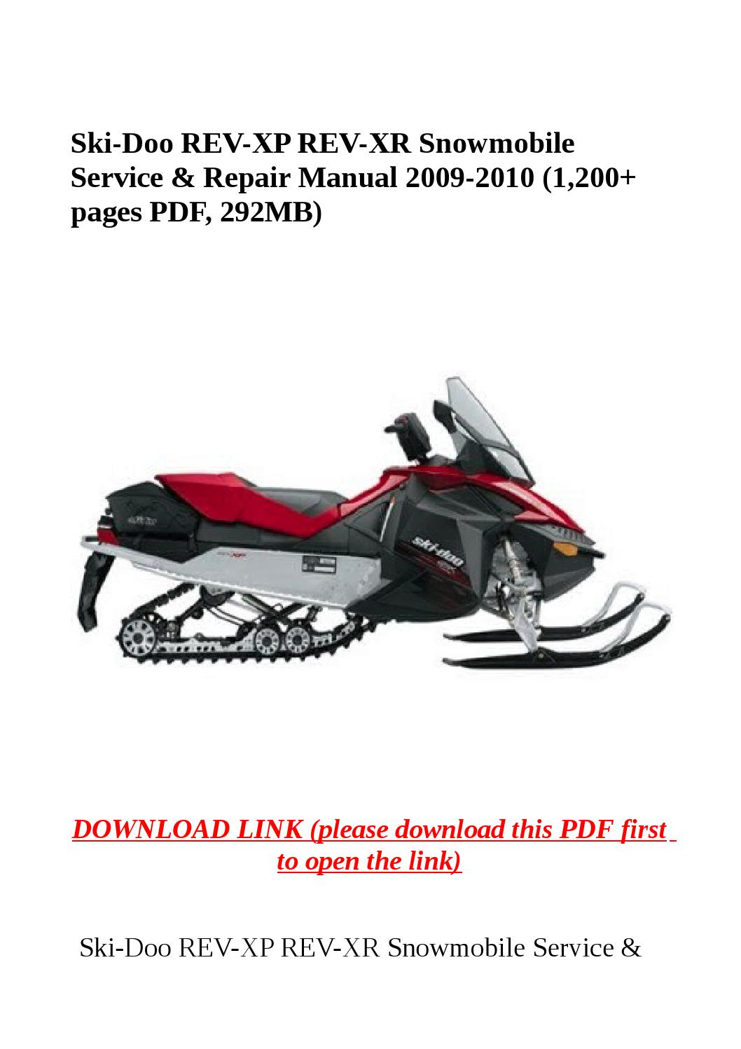 ski doo snowmobile parts diagram 2000 yamaha banshee wiring rev xp xr service and repair manual