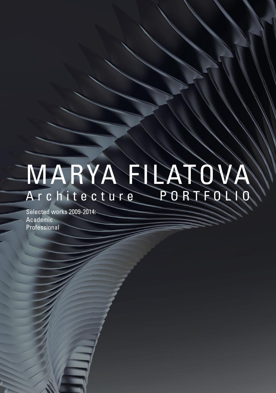 Architecture Portfolio By Mar'ya Filatova Issuu