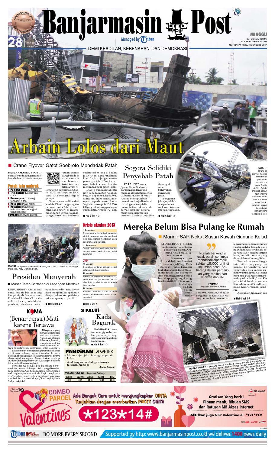 Banjarmasin Post Minggu 23 Februari 2014 By Banjarmasin