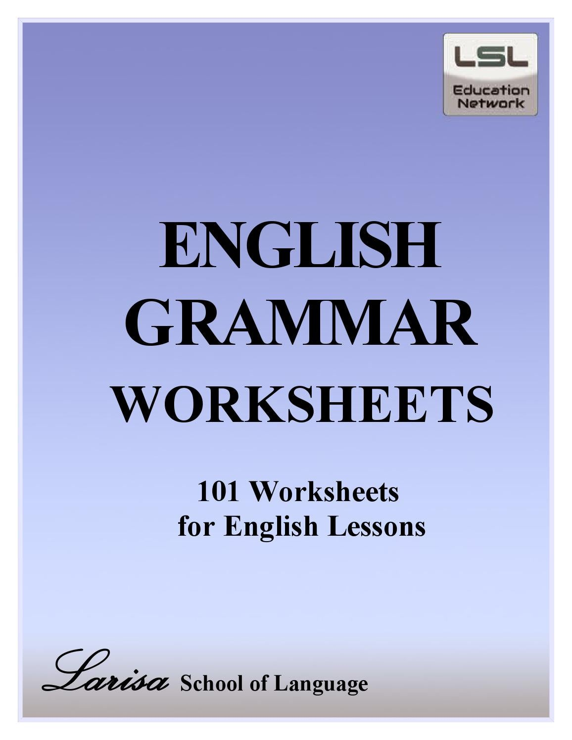 hight resolution of 101 English Grammar Worksheets for English Learners by Billgreen54 - issuu