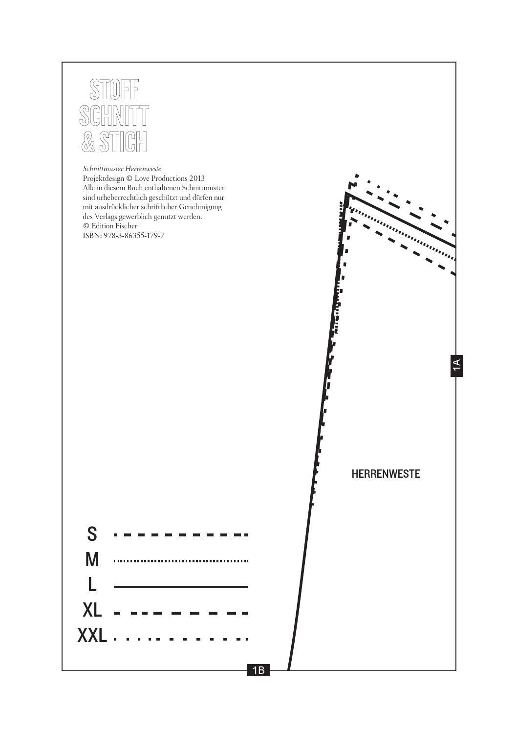 Stoff, Schnitt, Stich // Herrenweste by Edition Michael