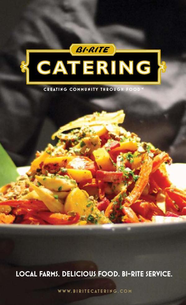 Bi Rite Catering Brochure Market
