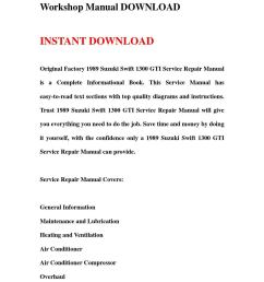 1989 suzuki swift 1300 gti service repair workshop manual download by hews issuu [ 1058 x 1497 Pixel ]
