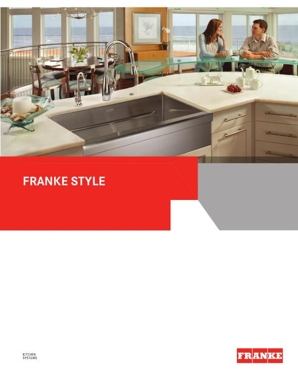 Franke Kitchen Systems Luxury Catalog 2014 Products Group