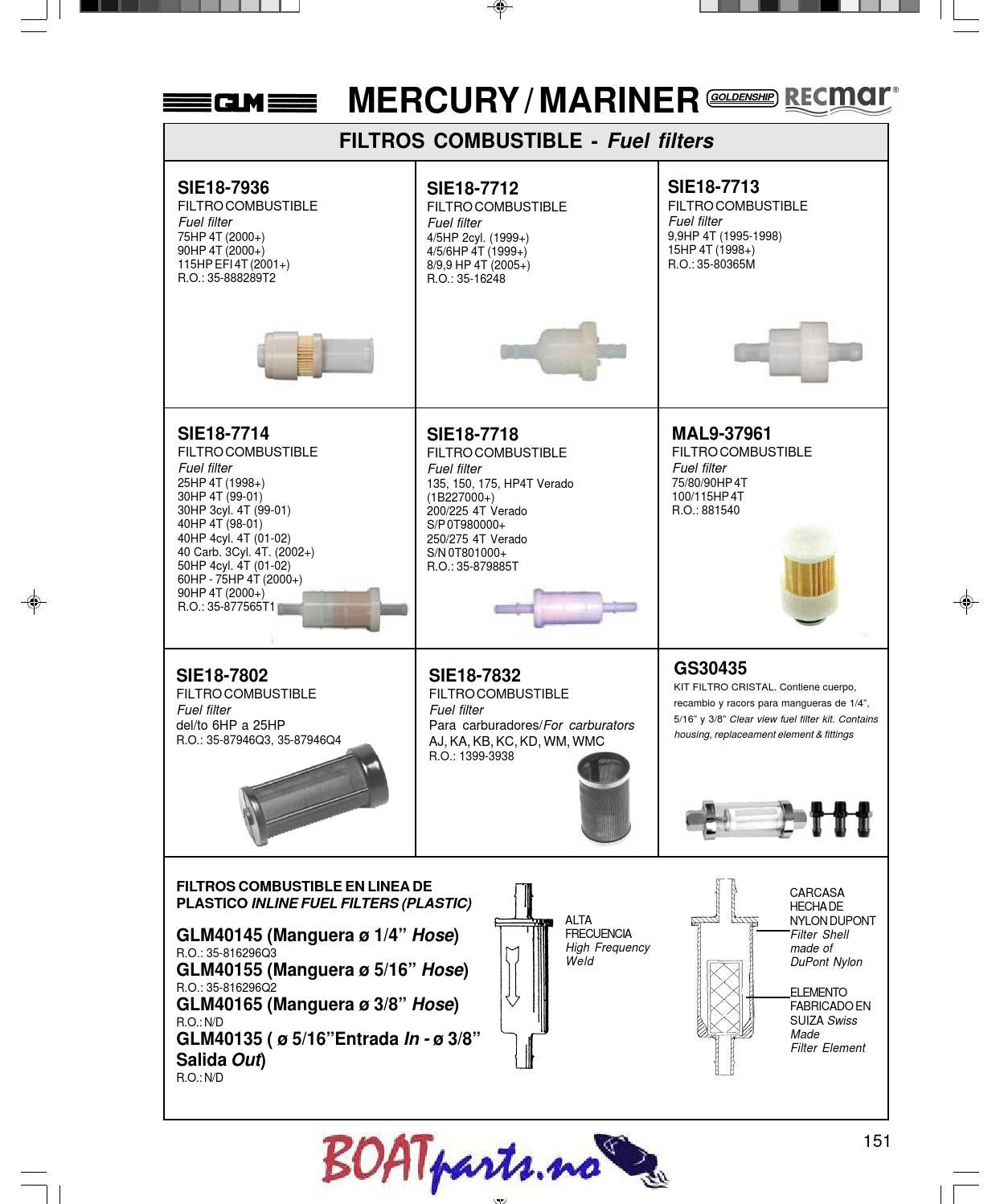 hight resolution of mercury and mariner parts