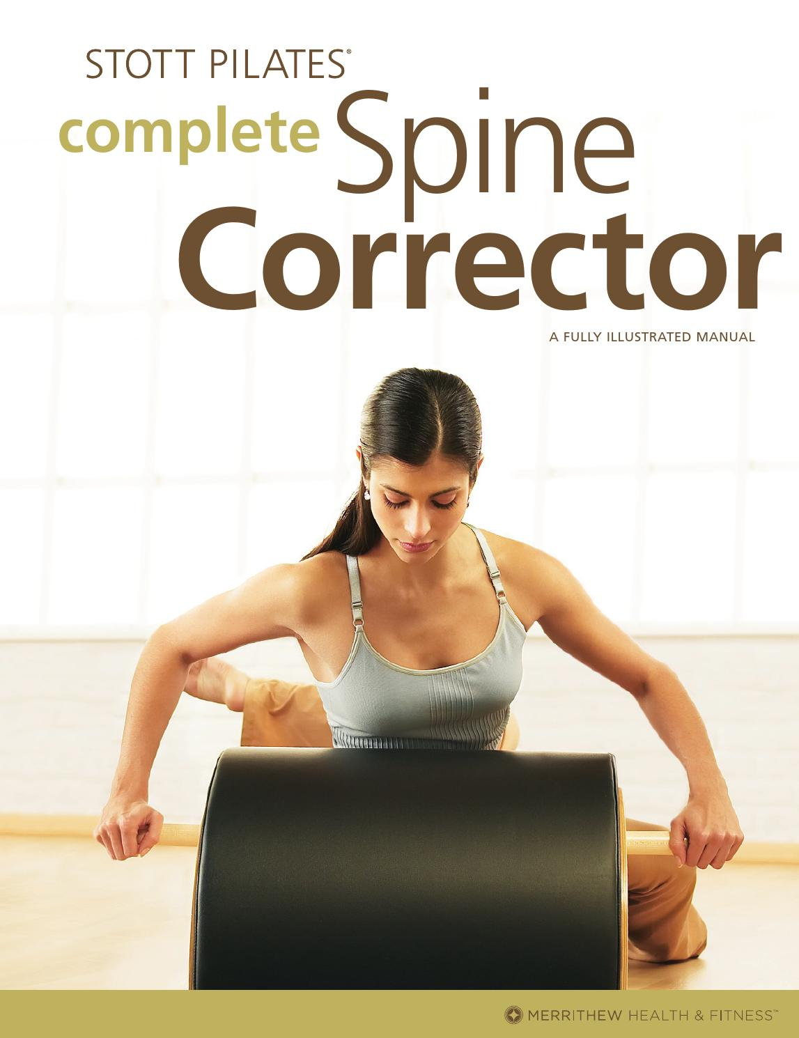 chair gym exercise book boys potty complete spine corrector sample by merrithew issuu