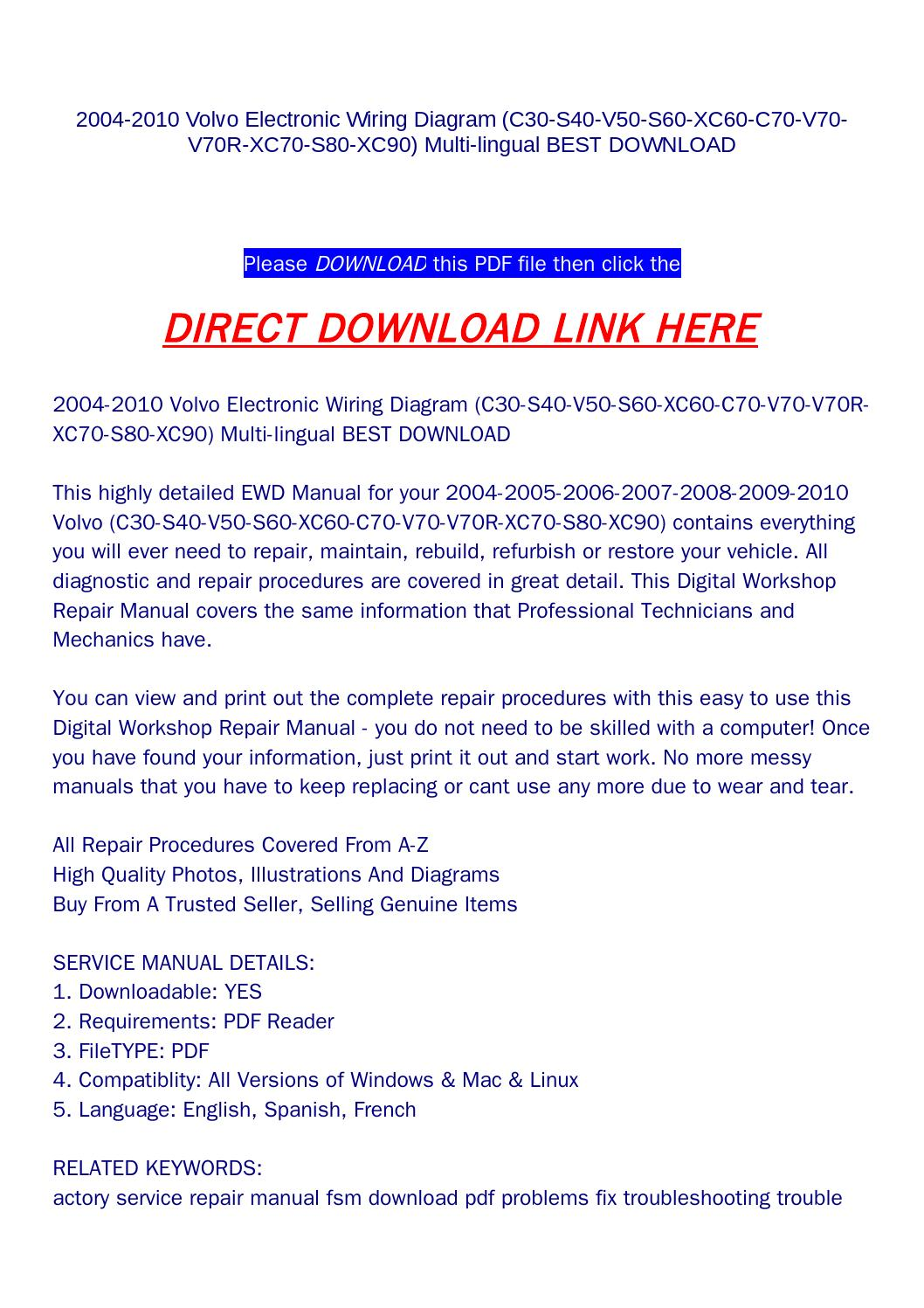 hight resolution of 2004 2010 volvo electronic wiring diagram c30 s40 v50 s60 xc60 c70 v70 v70r xc70 s80 xc90 multi li by yfg qualityservicemanual com issuu