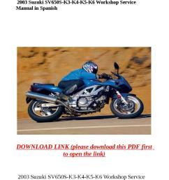 2003 suzuki sv650s k3 k4 k5 k6 workshop service manual in spanish [ 1058 x 1497 Pixel ]
