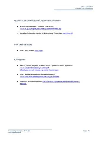 Iec Canada Resume Template Resume Examples Resume Template Resume