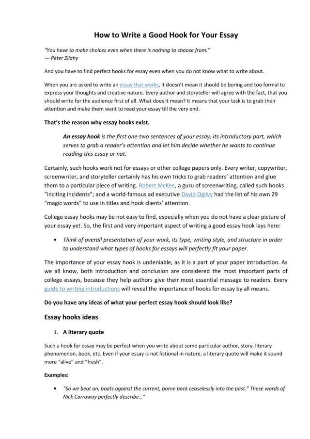 How to write a good hook for your essay by Bid28papers - issuu