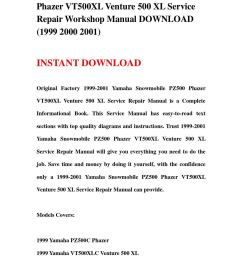 1999 2001 yamaha snowmobile pz500 phazer vt500xl venture 500 xl service repair workshop manual downl [ 1058 x 1497 Pixel ]