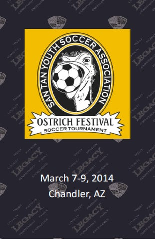 2014 Ostrich Festival Tournament Program by San Tan Soccer  Issuu