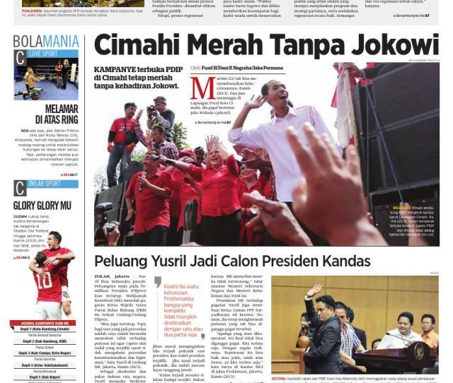 Cimahi Merah Tanpa Jokowi Prabowo Yakin Kuasai Jabar