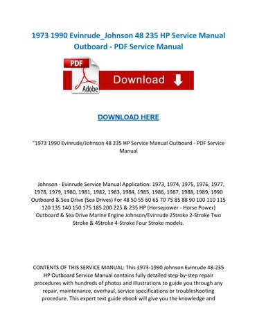 1973 1990 evinrude johnson 48 235 hp service manual outboard pdf - motor  wiring diagram for