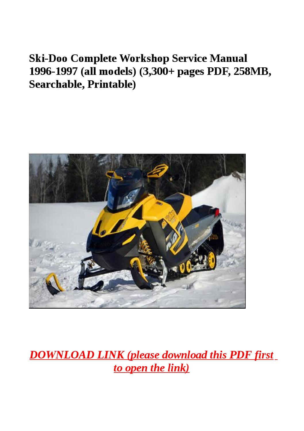 hight resolution of ski doo complete workshop service manual 1996 1997 all models rh issuu com 1997 ski