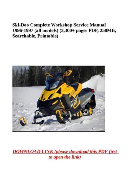 small resolution of ski doo complete workshop service manual 1996 1997 all models rh issuu com 1997 ski