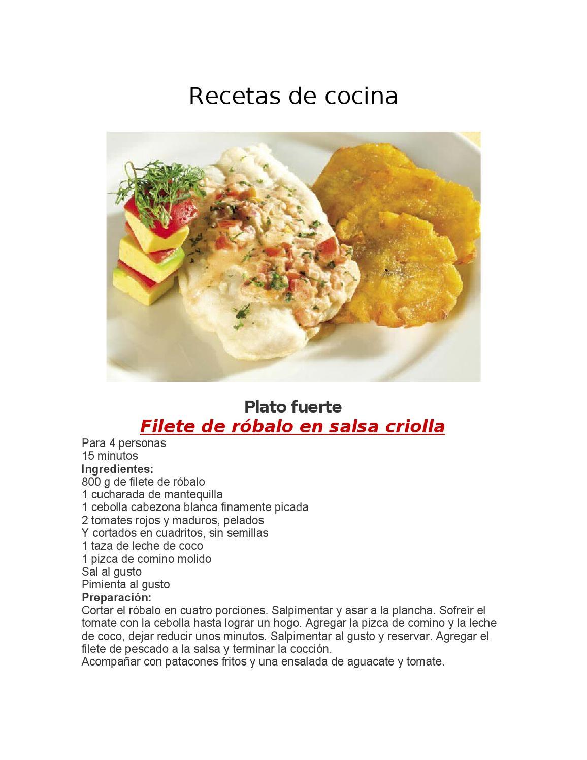 Recetas de cocina pdf by PAMELA GONZALEZ  Issuu