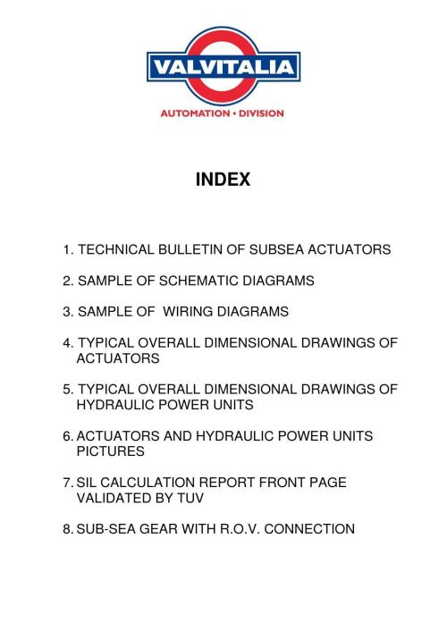 small resolution of subsea actuators
