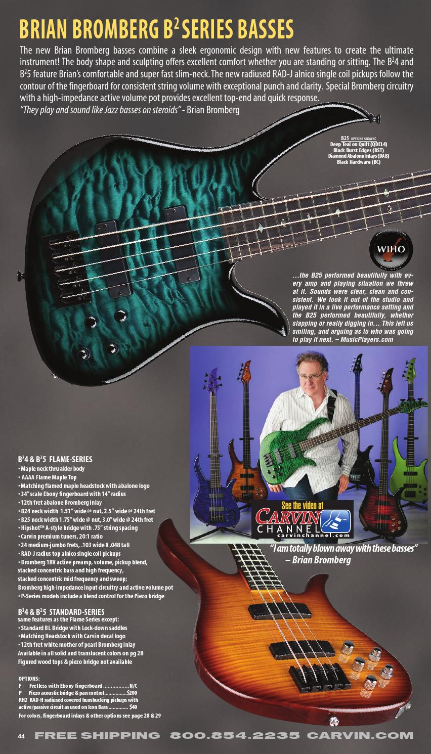 hight resolution of 2014 01 carvin bass catalog by alex lopez issuu carvin 5 string bass carvin bass wiring