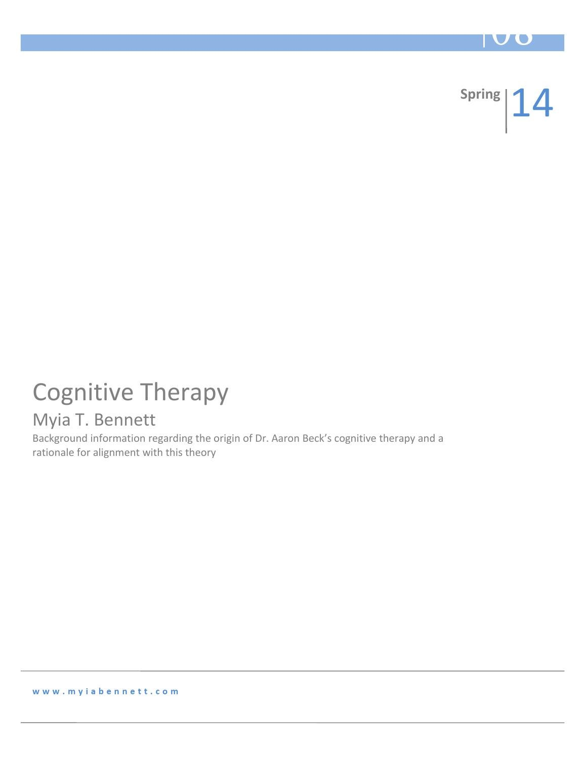 Cognitive Therapy: A Theoretical Orientation by Myia T