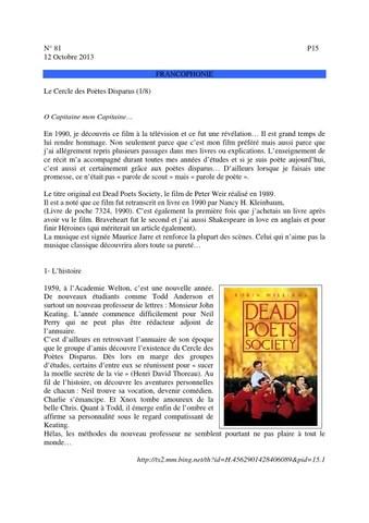 Le Cercle Des Poete Disparu : cercle, poete, disparu, Odtmag81, Cercle, Poètes, Disparus, Stephan, Puyvelde, Issuu