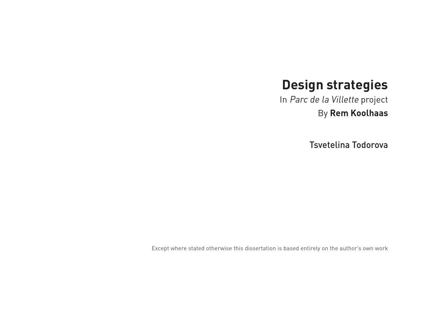 oma parc de la villette diagram desktop computer design strategies in by rem koolhaas tsvetelina todorova issuu