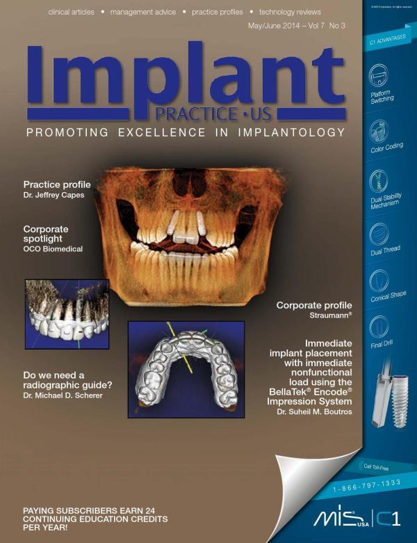 Implant Practice - June 2014 Issue Vol7.3
